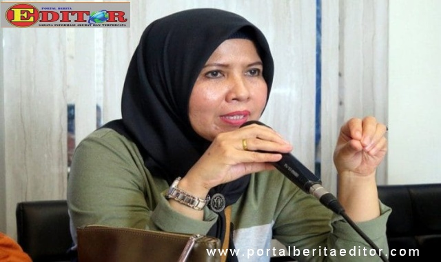 Kadis Perindagkop dan UMKM Kota Pariaman, Gusniyeti Zaunit.