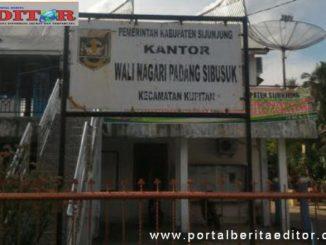 Kantor Wali Nagari Padangsibusuk Kabupaten Sijunjung.