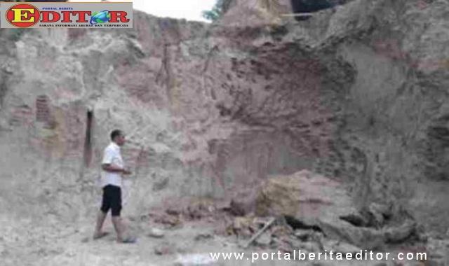 Lokasi tewasnya dua penambang di Bonjol.