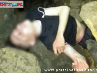 Mayat Muhammad Arif saat ditemukan.