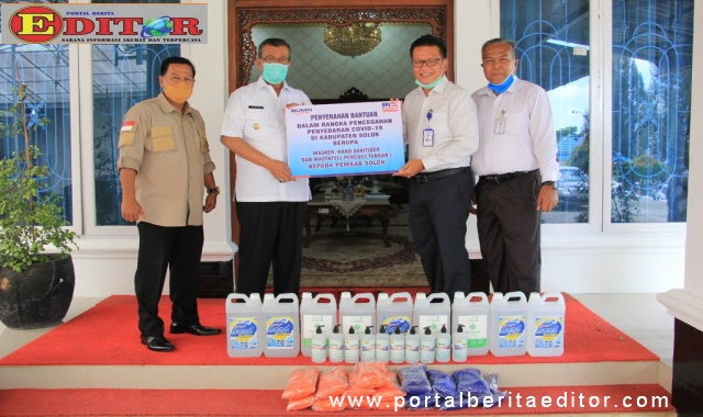 Pemerintah daerah terima bantuan dari BRI Cabang Solok guna menanggulangi penyebaran covid-19 di Kabupaten Solok