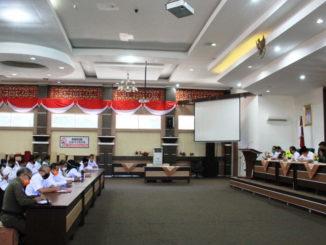 Rapat evaluasi di Kab. Solok.