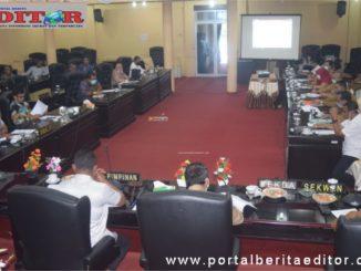 Rapat pembahasan Covid-19 di DPRD Kab. Solok.