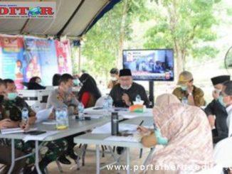 Rapat pembahasan pencegahan Covid-19 di Kab. Tanah Datar.