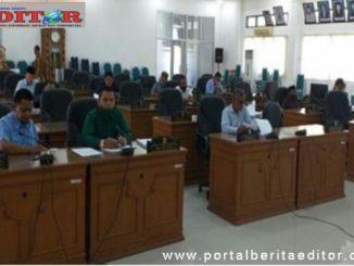 Rapat pergeseran anggaran di DPRD Tanah Datar.