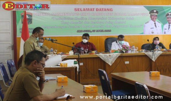 Suasana Musrenbang RKPD Kab. Solok 2021.