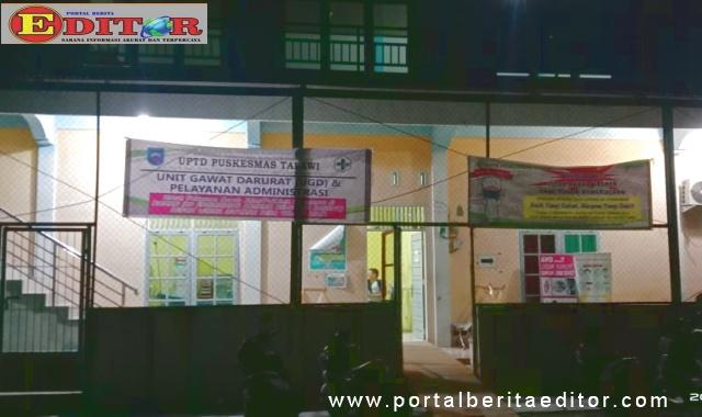 Tempat pelayanan kesehatan UPT Puskesmas Talawi di Wisma Atlit Talawi Putra.