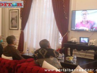 Video Conference dengan Karo Humas Sumbar di Arosuka.