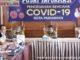 Wako Genius Umar saat memberi keterangan di Pusat Informasi Covid-19 Kota Pariaman.