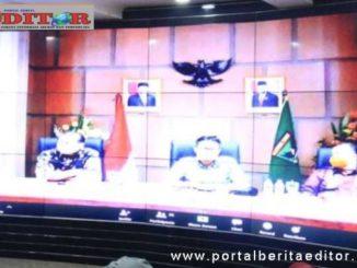 Wako Ramlan Nurmatias saat Video Conference.
