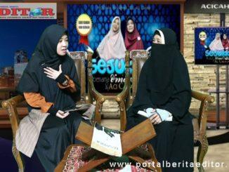 Aci Cahaya dan Umi Aisyah saat tampil di acara Sejukkan Hati.