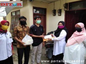 Aksi peduli COVID-19 Fakultas Pariwisata Universitas Muhammadiyah Sumatera Barat.