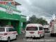 Armada Damkar melakukan penyemprotan disinfektan di sekitar RSUD Padang Panjang,