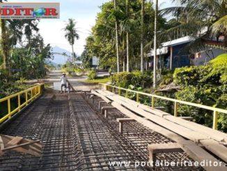 Jembatan Sungai Lingkitang di Nagari Lubuk Gadang Timur, Kecamatan Sangir.