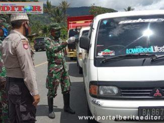 Pelaksanaan pelarangan perantantau masuk ke Kab. Solok Selatan.