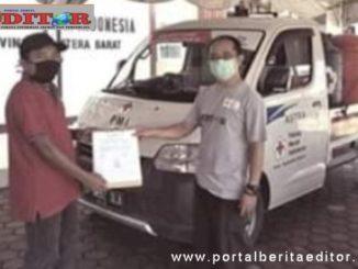 Penyerahan bantuan mobil dari PMI Sumbar kepada PMI Kab. Pasaman.