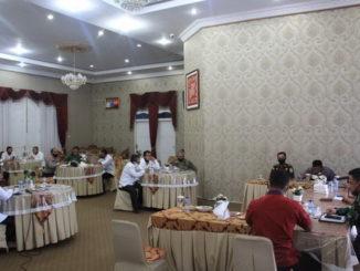 Rapat terkait perpanjangan PSBB di Kab. Solok.