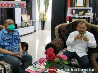 Syafrizal (Ucok) bersama Bupati Padang Pariaman, Ali Mukhni.