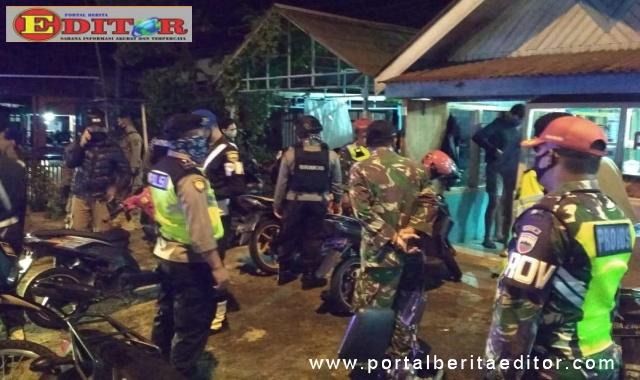 Tim gabungan yang terdiri jajaran Polres, TNI, Satpol PP, Perhubungan dan BPBD dalam dalam aksi patroli skala besar.