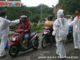 Untuk memutus penyebaran covid -19 petugas melakukan cek poin di perbatasan pintu masuk Padang Panjang.