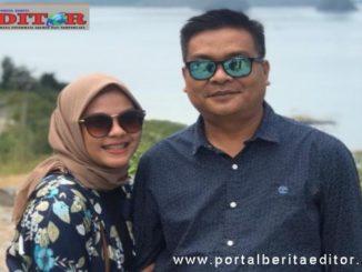 Wakil ketua DPRD Solsel Ali Sabri Abbas bersama istri.