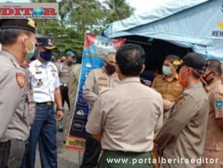 Walikota bersama Kapolres Sawahlunto ketika melakukan pemantauan ke Posko Pantau yang baru.