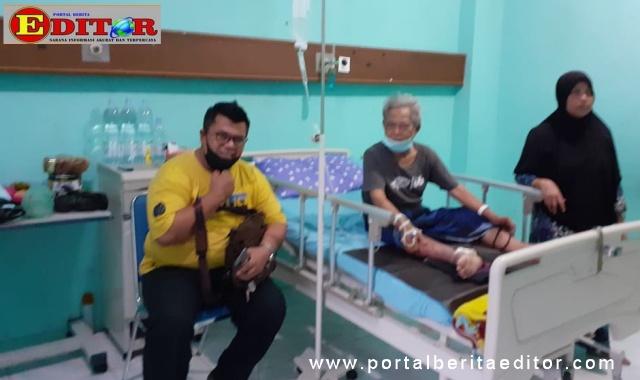 Andrio An bersama Ketua BWKS Adeks Rossyie Mukri kerika membahas maslah PTSBL Sawahlunto.