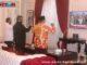 Bupati, Sekdakab dan Ketua DPRD Kab. Solok saat mengikti vidcom penyerahan Opini WIT oleh BPK Perwakilan Sumbar.