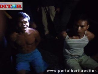 Dua dari tiga penjambret yang diringkus polisi.