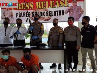 Dua pelaku berhasil diamankan oleh Satreskrim Polres Solsel.