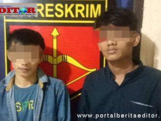 Dua pemakai narkoba yang diciduk di Tanjuang Bingkuang.