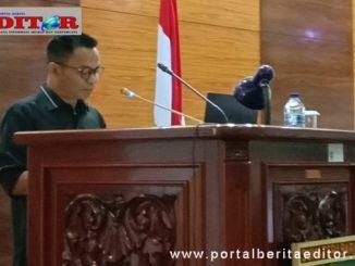 Juru Bicara Fraksi Gerindra Hidayat saat menyampaikan pandangan umum