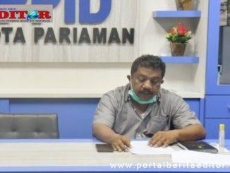 Plt Sekda kota Pariaman Syahrul Fadli.