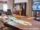 Rapat virtual di ruang kerja Gubernur Sumbar.