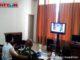 Sekdakab Irwandi saat mengikuti Vidcom.