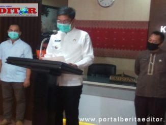 Walikota Sawahlunto Deri Asta ketika memberikan sambutan.