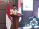 Gubernur Irwan Prayitno saat memberi sambutan pada lanching MTQ N ke 28 secara virtual.