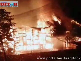Keganasan api melalap sebuah rumah di Payonibuang