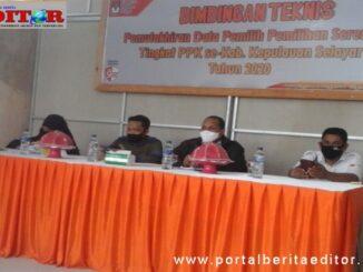 Pembicara bimtek yang dilaksanakan KPU Kab. Selayar.