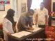 Penandatanganan berita acara serah terima bantuan Kementerian PUPR untuk Kab. Solok.