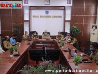 Pertemuan untuk mebahas masalah Covid-19 di sektor pendidikan di Payakumbuh.
