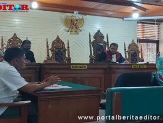 Sidang kasus pelanggaran Perda Payakumbuh tenrsng Pekat.