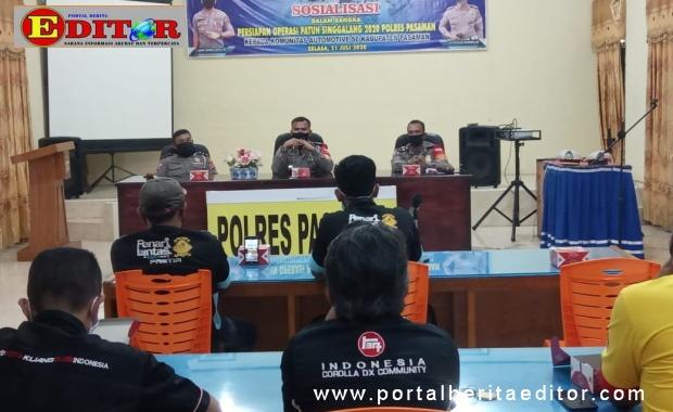 Sosialisasi Operasi Patuh Singgalang di Pasaman.