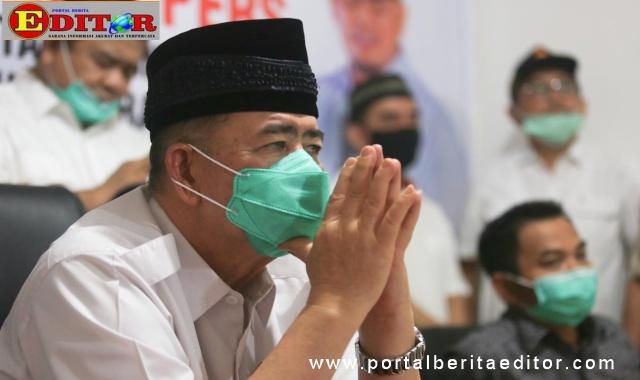 Wagub Nasrul Abit saat mengikuti webinar.