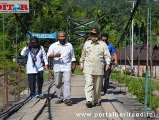 Wagub Nasrul Abit saat menuju Langgai.