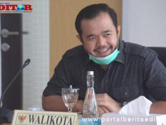 Wako Padang Panjang, Fadly Amran saat ucapkan sarsa syukur atas kesembuhan 3 pasien covid terakhir..