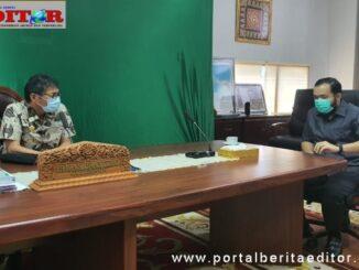 Walikota Fadly Amran bertemu Gubernur Irwan Prayitno.