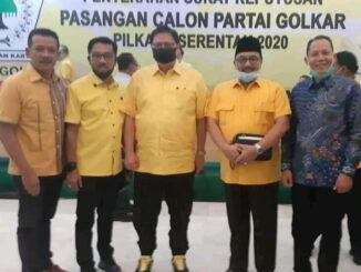 Beni bersama Airlangga Hartarto ketua umum partai Golkar