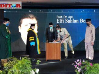 Gubernur Irwan Prayitno saat launching Upertis.