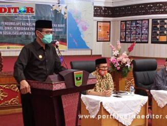Gubernur Irwan Prayitno saat memberi sambutan.